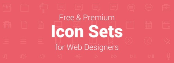 25 Free & Premium Icon Sets for Web Designers