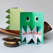 Make Amazing Pop-Up Origami Dinosaur Invitations