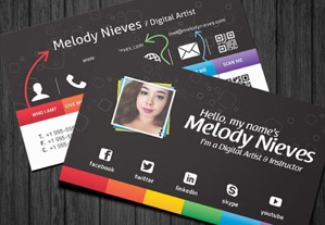 Business Card Templates Designs From GraphicRiver - Business card template with photo